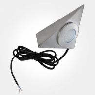 Eterna Warm White 1.7W Brushed Nickel LED Triangle Cabinet Downlight