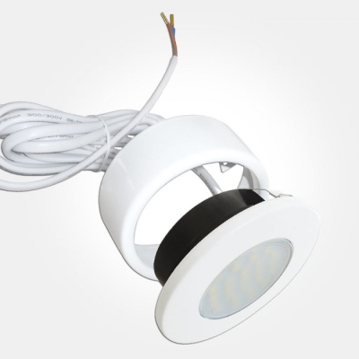 Eterna Warm White 1.7W White LED Recessed Cabinet Downlight