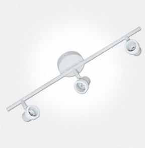 Eterna White Triple Bar Spotlight (3x50W Max Lamp Required) LAMPS NOT INCLUDED