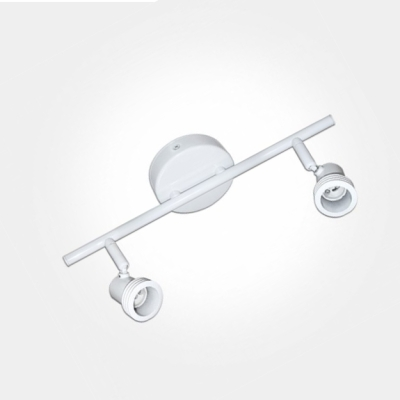 Eterna White Twin Bar Spotlight (2x50W Max GU10 Lamps Required) LAMP NOT INCLUDED