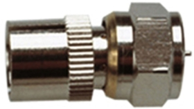 F Type Plug to 9.5 mm Coaxial Socket