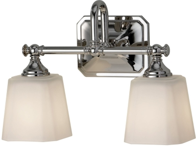 Faiss IP44 G9 Concord 2 Light Above Mirror Light in Polished Chrome