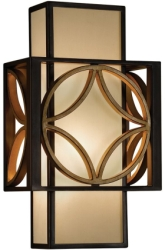 Feiss E14 Remy Iron 1 Light Wall Light in Heritage Bronze/Parissiene Gold