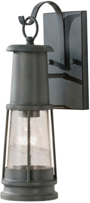 Feiss Outdoor IP44 E27 Chelsea Harbor 1 Light Wall Lantern Black/Grey