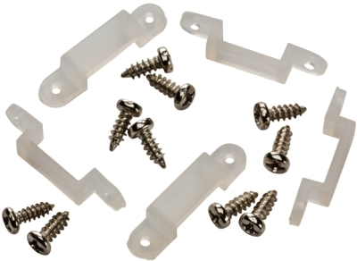 Fixing Kit For 14mm IP68 LED Strip (5x Brackets and 10x Screws Included)