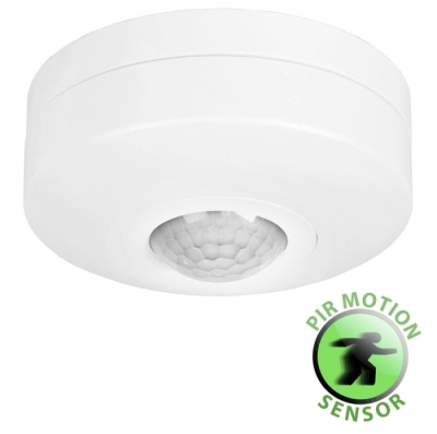 Flush Surface Mounted Infrared Motion Sensor White