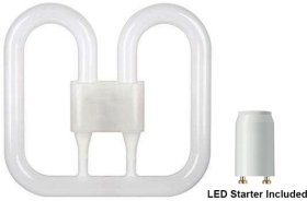 GE LED 2D Butterfly 12.5W 4 Pin White (28 Watt Alternative - Magnetic)
