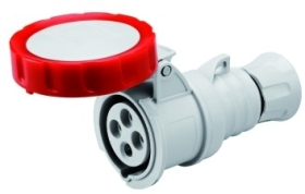 Gewiss 16A IP66/67/68/69 IEC309 3P+E Red Industrial Connector with Screw Terminal 400V