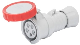 Gewiss 16A IP66/67/68/69 IEC309 3P+N+E Red Industrial Connector with Fast Wiring (Screwless) 400V