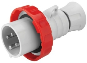 Gewiss 32A IP66/67/68/69 IEC309 3P+E Red Industrial Plug with Fast Wiring (Screwless) 400V