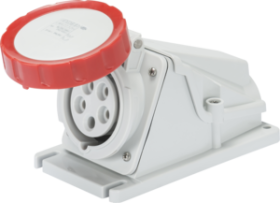 Gewiss 32A IP67 IEC309 3P+N+E Red 90 degree Watertight Mounting Socket Outlet with Screw Wiring 400V