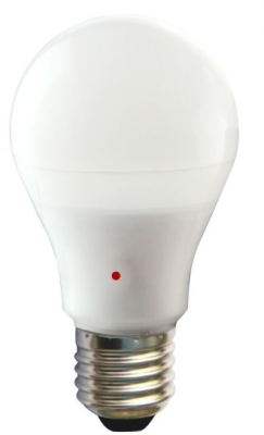 Girard Sudron 12W E27 Frosted A65 LED GLS Bulb with Inbuilt Sensor Very Warm White