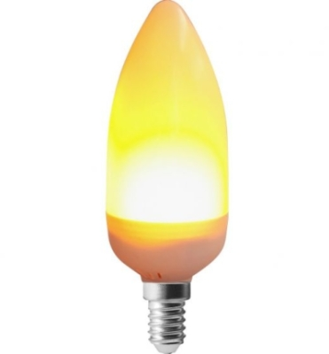 Girard Sudron 3W E14 LED Flame Flickering Multi-function Frosted Candle Bulb Very Warm White