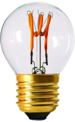 Girard Sudron 3W E26 Dimmable Clear Golfball G45 LED Filament Bulb 3 Loops 120V Very Warm White