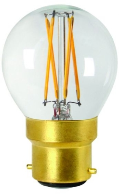 Girard Sudron 4W B22 Clear Dimmable Golfball LED Filament Bulb G45 Very Warm White