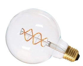 Girard Sudron 4W Dimmable Clear Globe G125 Decorative Filament LED Twisted E27 240lm Very Warm White