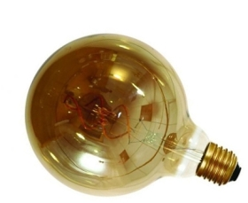 Girard Sudron 4W Dimmable Smoky Globe G125 Filament LED Twisted E27 160lm Very Warm White