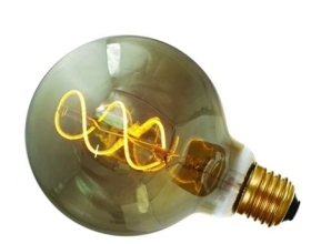 Girard Sudron 4W Dimmable Smoky Globe G95 Decorative Filament LED Twisted E27 160lm Very Warm White