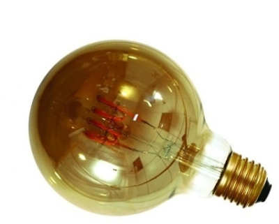 Girard Sudron 4W Dimmable Smoky Globe G95 Filament LED 4 Loops E27 160lm Very Warm White