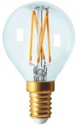 Girard Sudron 4W E14 Clear Dimmable Golfball LED Filament Bulb G45 Cool White