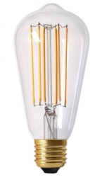 Girard Sudron 4W E27 Dimmable Clear Teardrop LED Filament Bulb Very Warm White