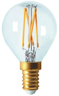 Girard Sudron 5W E14 Clear Golfball LED Filament Bulb G45 Very Warm White