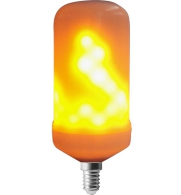 Girard Sudron 5W E14 LED Flame Flickering Multi-function Frosted Stick Bulb Very Warm White