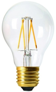 Girard Sudron 6W E27 A60 Clear LED Filament GLS Bulb Cool White