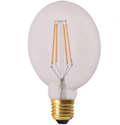 Girard Sudron 6W E27 Dimmable Clear Glass Flat LED Filament Bulb G105 Very Warm White