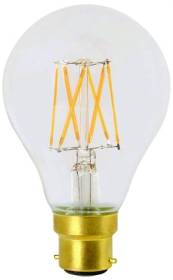 Girard Sudron 8W B22 A70 Dimmable Clear LED Filament GLS Bulb Very Warm White