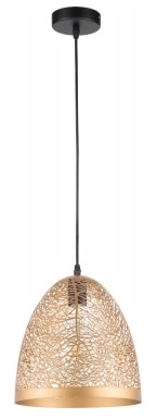 Girard Sudron Bell Shape Graphic Pendant Lampshade – E27 Golden Metal – 1M Cable
