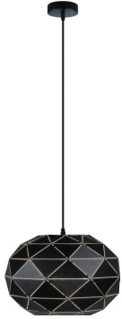 Girard Sudron Black Frosted Acrylic Graphic Suspended Light - 1.5m PVC cable