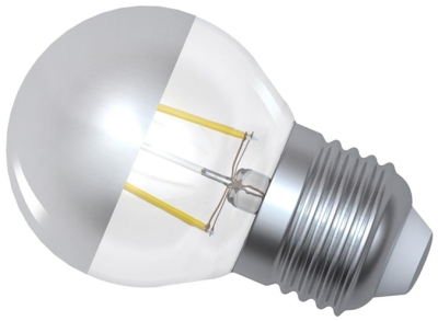 Girard Sudron Dimmable 4W Crown Silver ES LED Filament Golfball