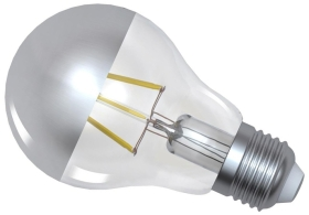 Girard Sudron Dimmable 6W Crown Silver ES LED Filament GLS