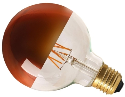 Girard Sudron Dimmable 8W Crown Bronze ES LED Filament G95 Globe
