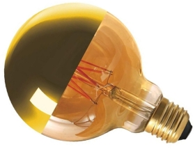 Girard Sudron Dimmable 8W Crown Gold ES LED Filament G95 Globe