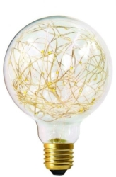 Girard Sudron E27 Globe Happy In G125 1.5W Clear Decorative LED Warm White