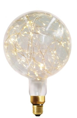 Girard Sudron E27 Globe Happy In G200 1.5W Clear Decorative LED Warm White
