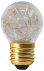 Girard Sudron E27 Golfball G45 1W Clear Decorative LED Warm White
