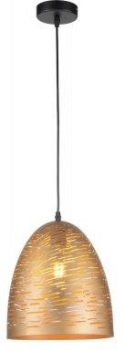 Girard Sudron Graphic Pendant Lampshade - E27 With Golden Metal Interior / Exterior - 1M Cable