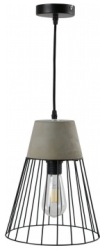 Girard Sudron Robust Concrete Cage Suspended Lampshade