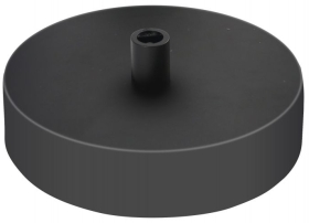 Girard Sudron Single Output Black Modern Ceiling Rose (With Cable Stop)