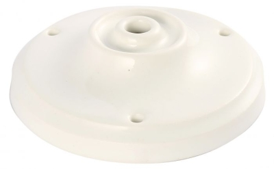 Girard Sudron Single Output White Victorian Porcelain Ceiling Rose
