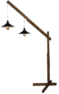 Girard Sudron Wooden Floor Lamp – (lamps not included)