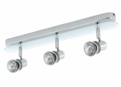 Glass Fronted IP44 Bathroom Bar GU10 Spotlight 3 Way