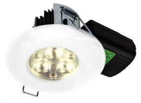 H2 PRO550 8.5W Very Warm White Dimmable LED Fire Rated IP65 Downlight (60 Degree)