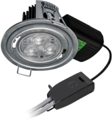 H2 PRO550 T 8.5W Cool White Dimmable LED Fire Rated IP65 Downlight (60 Degree)