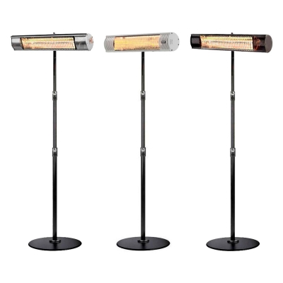 Heat Outdoors 2kW Shadow Ultra Low Glare Patio Heater with Stand, Black