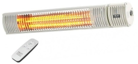 Heat Outdoors IP65 1.5KW Shadow II ULG+ Patio Heater in White with Remote