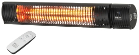 Heat Outdoors IP65 2KW Shadow Patio Heater with Remote Control in Black